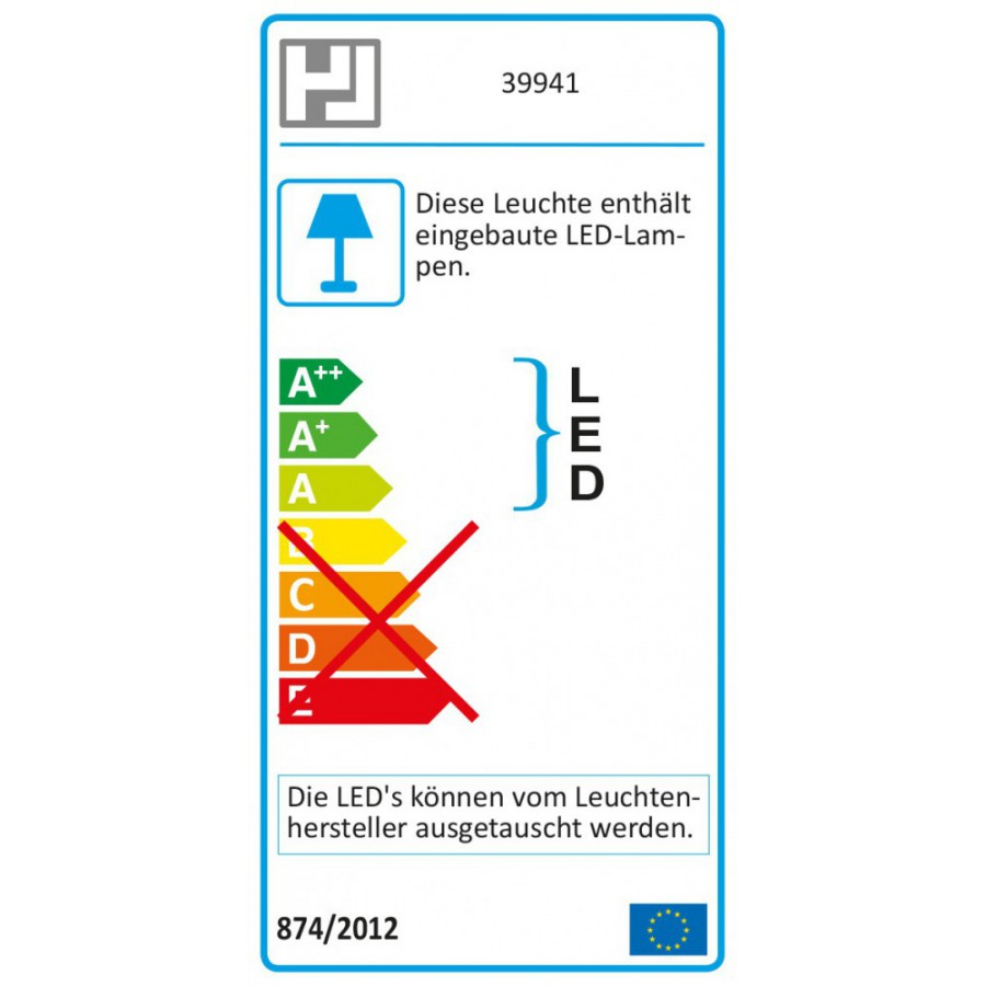 Honsel LED Wandleuchte Mill 39941
